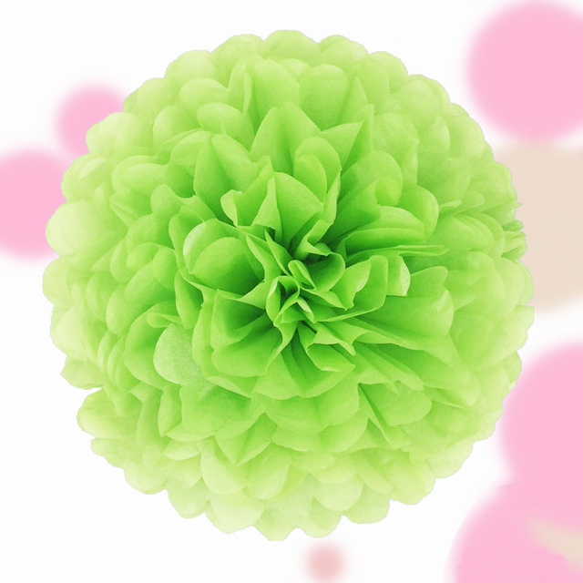 papier pompom bommel 25 cm kugel blume hochzeit deko geburtstag rosa wei blau ebay. Black Bedroom Furniture Sets. Home Design Ideas