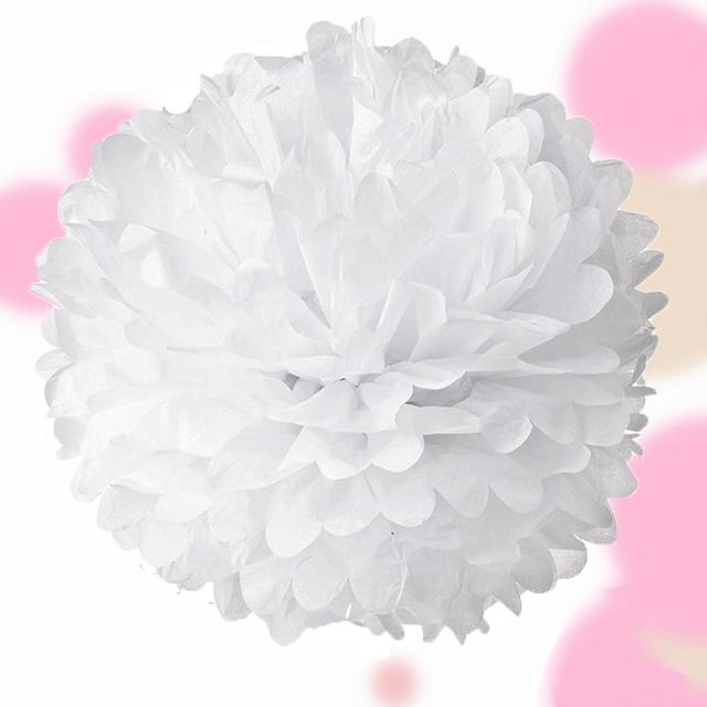 papier pompom bommel 25 cm kugel blume hochzeit deko geburtstag rosa wei blau ebay. Black Bedroom Furniture Sets. Home Design Ideas